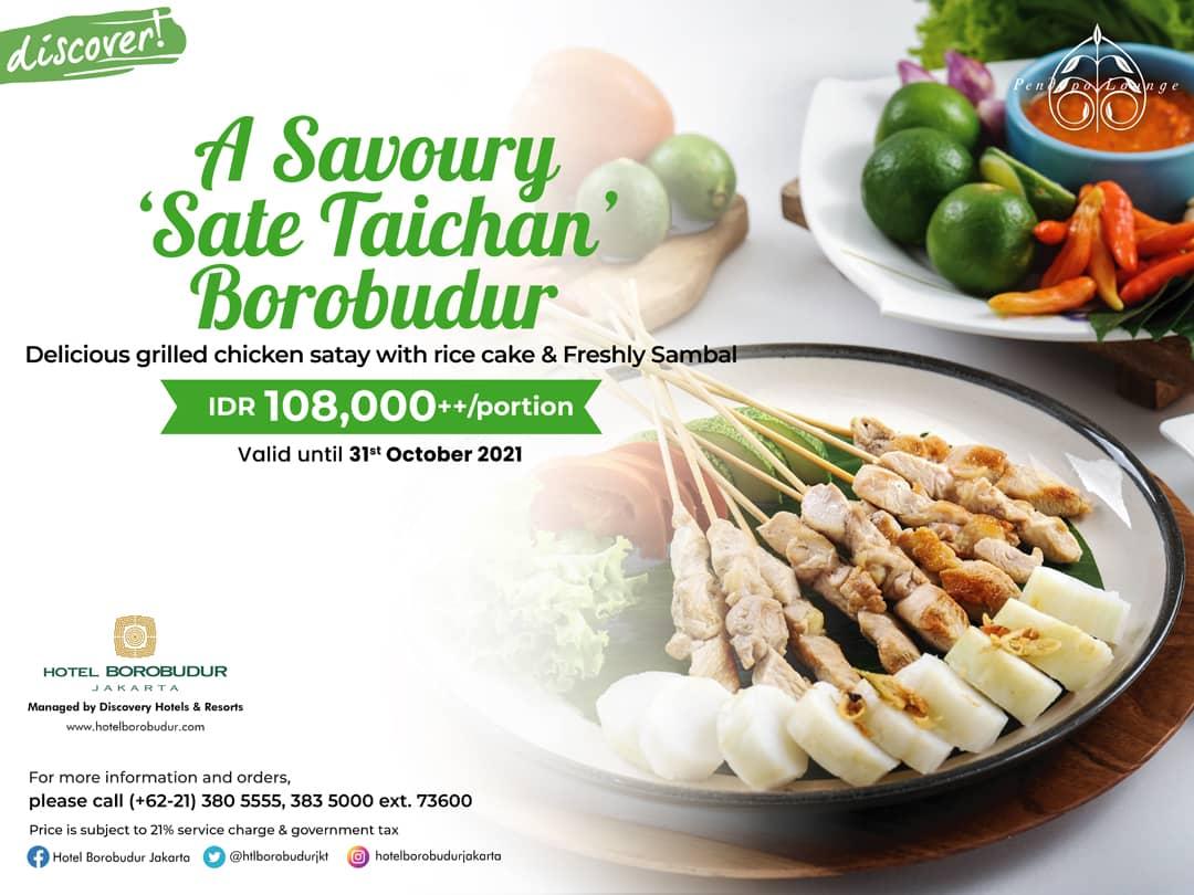 """A Savoury """"Sate Taichan"""" Borobudur"""